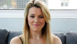 You won't forget this intercourse made by a horny blonde and her suggestive interviewer