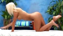 Blonde marvelous sweetheart is getting her erect nipples pressed nicely