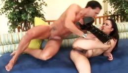Hot Asian cutie is taking part in a crazy threesome getting pounded
